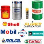 Shell Kluber Fuchs Mobil Roloil Castrol Molykote